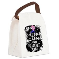 Male Breast Cancer Keep Calm and Fight On Canvas L