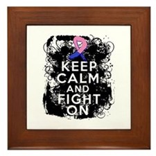 Male Breast Cancer Keep Calm and Fight On Framed T