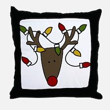 Holiday Reindeer Throw Pillow