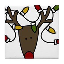 Holiday Reindeer Tile Coaster