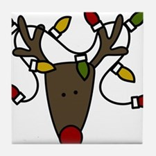 Holiday Reindeer Tile Coaster