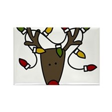 Holiday Reindeer Rectangle Magnet