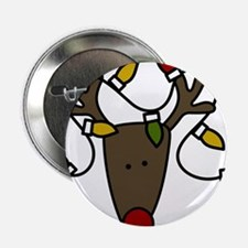 """Holiday Reindeer 2.25"""" Button"""