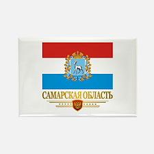 Samara Oblast Flag Rectangle Magnet