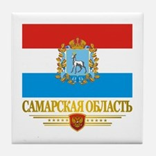 Samara Oblast Flag Tile Coaster