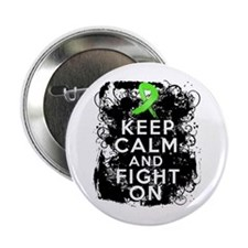 """Lyme Disease Keep Calm and Fight On 2.25"""" Button"""