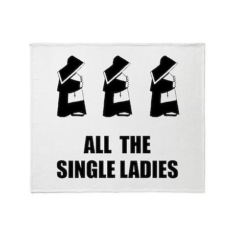 All The Single Ladies Throw Blanket