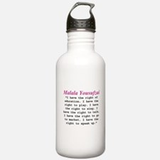 Malala's Rights Water Bottle