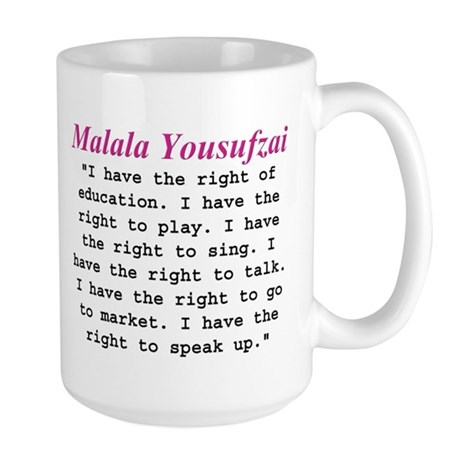 Malala's Rights Large Mug