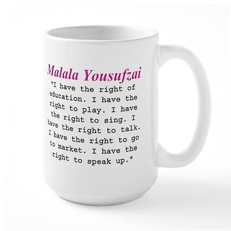Malala's Rights Large Mug