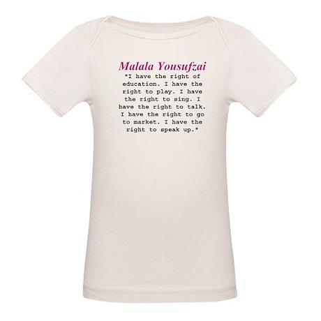 Malala's Rights Organic Baby T-Shirt