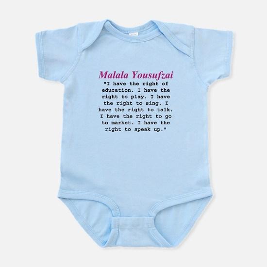 Malala's Rights Infant Bodysuit