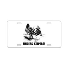 Finders Keepers Moon Landing Aluminum License Plat