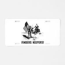 Finders Keepers Moon Landing Aluminum License Plat