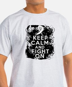 Lung Cancer Keep Calm and Fight On T-Shirt