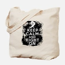 Lung Cancer Keep Calm and Fight On Tote Bag