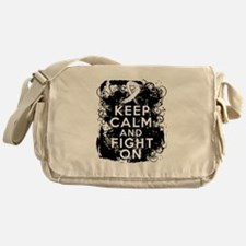 Lung Cancer Keep Calm and Fight On Messenger Bag
