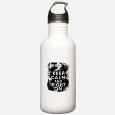 Lung Cancer Keep Calm and Fight On Water Bottle