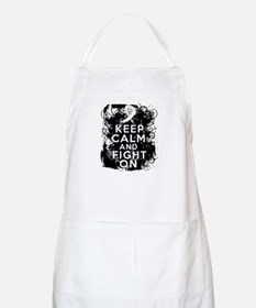 Lung Cancer Keep Calm and Fight On Apron