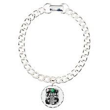 Liver Cancer Keep Calm and Fight On Bracelet