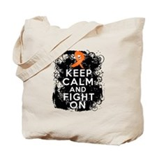 Leukemia Keep Calm and Fight On Tote Bag