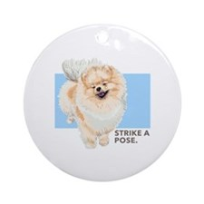 Pom Pose Ornament (Round)
