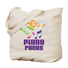Piano Rocks Tote Bag