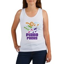 Piano Rocks Women's Tank Top
