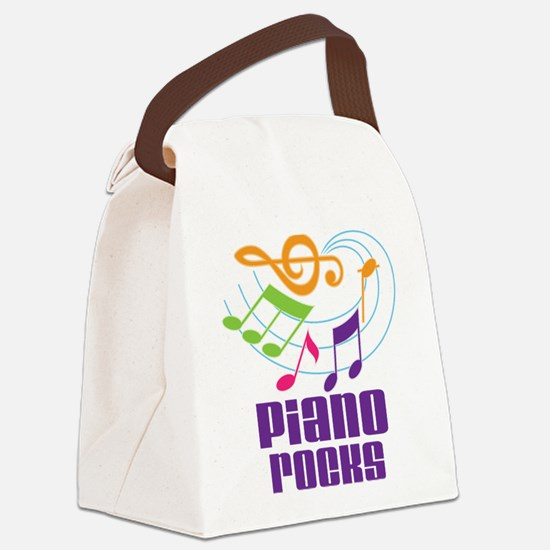 Piano Rocks Canvas Lunch Bag