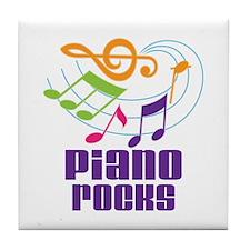 Piano Rocks Tile Coaster