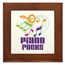 Piano Rocks Framed Tile