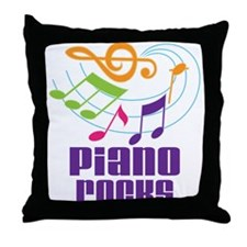 Piano Rocks Throw Pillow