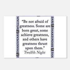Be Not Afraid of Greatness Postcards (Package of 8