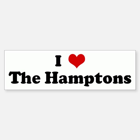 I Love The Hamptons Bumper Bumper Bumper Sticker