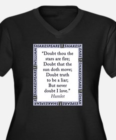 Doubt Thou The Stars Are Fire Women's Plus Size V-