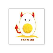 "Deviled Egg Square Sticker 3"" x 3"""