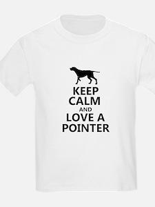 Keep Calm and Love A Pointer T-shirt T-Shirt