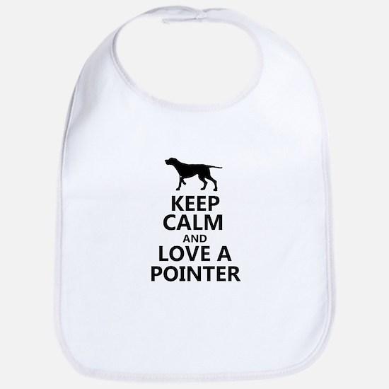 Keep Calm and Love A Pointer T-shirt Bib