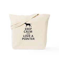 Keep Calm and Love A Pointer T-shirt Tote Bag