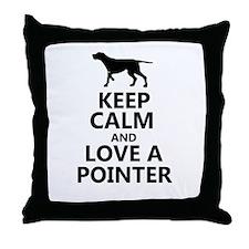 Keep Calm and Love A Pointer T-shirt Throw Pillow