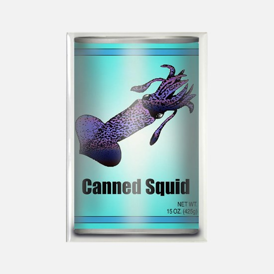 Canned Squid - Refrigerator Magnet