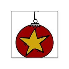 "Christmas Ornament Square Sticker 3"" x 3"""