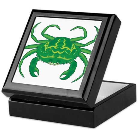 Green Crab Keepsake Box