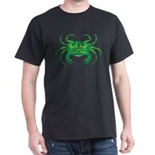 Green Crab Black T-Shirt