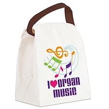 I Love Organ Music Canvas Lunch Bag