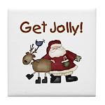 Get Jolly Tile Coaster