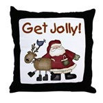 Get Jolly Throw Pillow