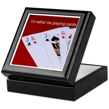 CARD SHARK Keepsake Box
