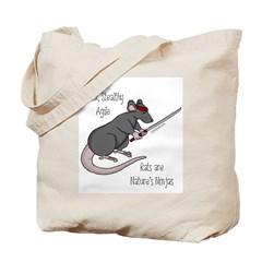 Rats are Nature's Ninjas Tote Bag