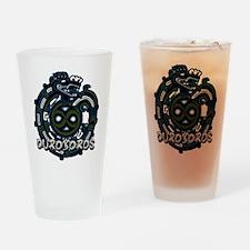 Ouroboros Blue Drinking Glass
